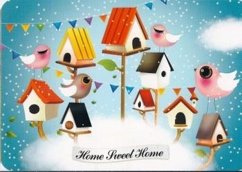 """Wenskaart enkel """" Home sweet home"""" Limoon"""