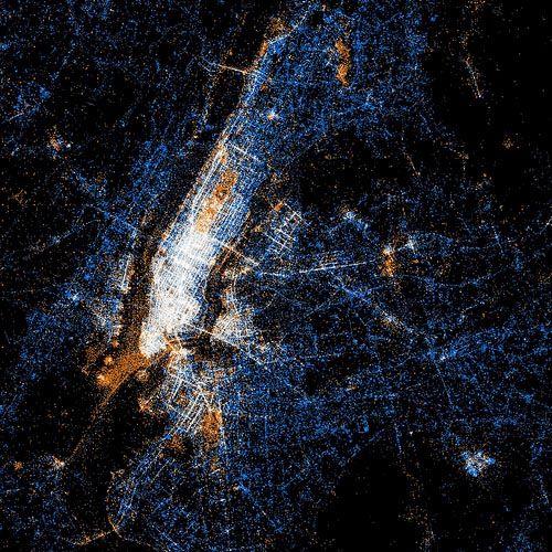 Eric Fischer - Heat Maps of Flicker and Twitter - NYC