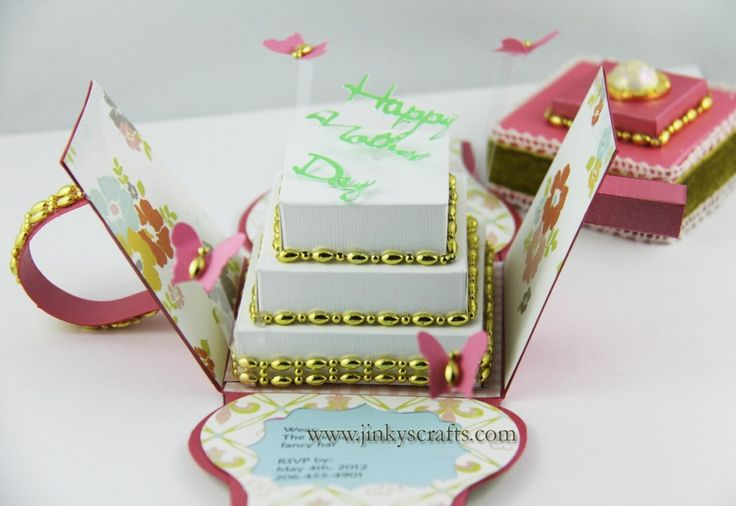 Such a clever take on the exploding boxes ideaDiy Ideas, Crafts Ideas, Art Wholesale, Origami Paper Cards Wraps, Boxes Ideas, Exploding Boxes, Paper Crafts Cards, Cards Papercraft, Clever Cards