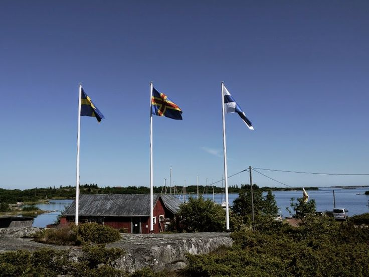 Kökar Sandvik guest harbour #flags: #Sweden, #Åland and #Finland!
