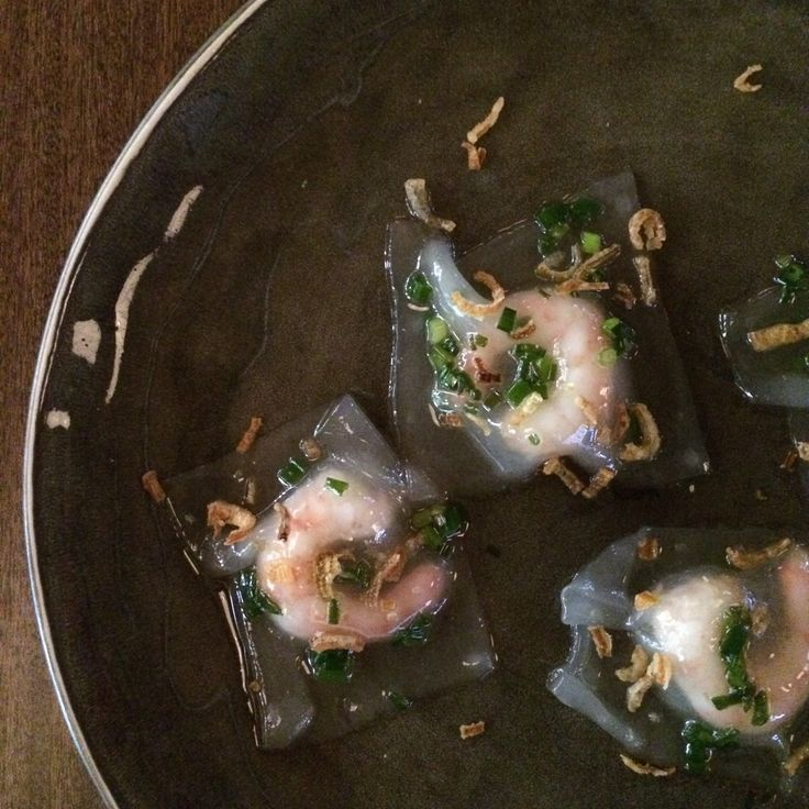 tapioca,dumpling, coldwatershrimp
