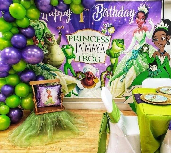 Princess And The Frog Birthday Party Ideas Photo 1 Of 10 Tiana Disney