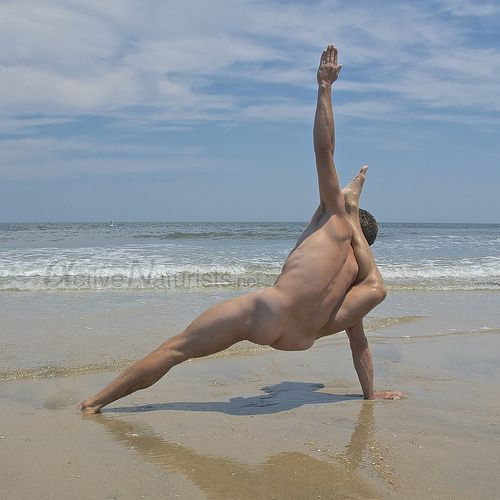 Naturist Yoga 0005 Sandy Hook, Nj, Usa  Mens Naked Yoga -4208