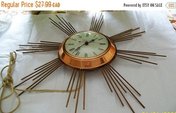 Vintage Ingraham electric wall clock  clocks  by NewtoUVintage