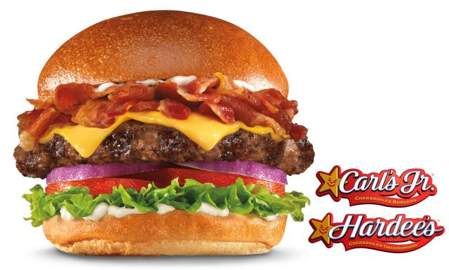 Carl's Jr. / Hardee's - New Mile High Bacon Thickburger features thick-cut Applewood-smoked bacon.