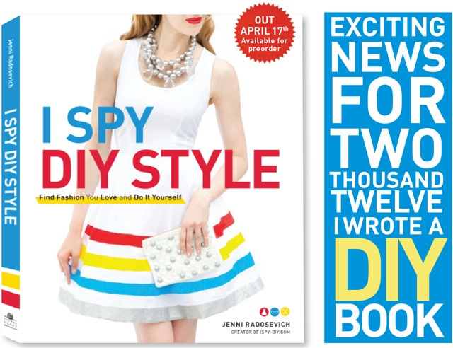 Seen it in a magazine?Find fashion u love & do it yourself! With a few simple supplies and a range of clever ideas,DIY exprt Jenni Radosevich shows you how to make style your own.Transform u'r basics into designer fashions,I Spy DIY Style has everything you need for easy-to-make looks that will up your style quotient without sacrificing your budget.http://www.amazon.com/gp/product/0307587142/ref=as_li_ss_tl?ie=UTF8=1789=390957=0307587142=as2=tascamim2-20Sewing Machine