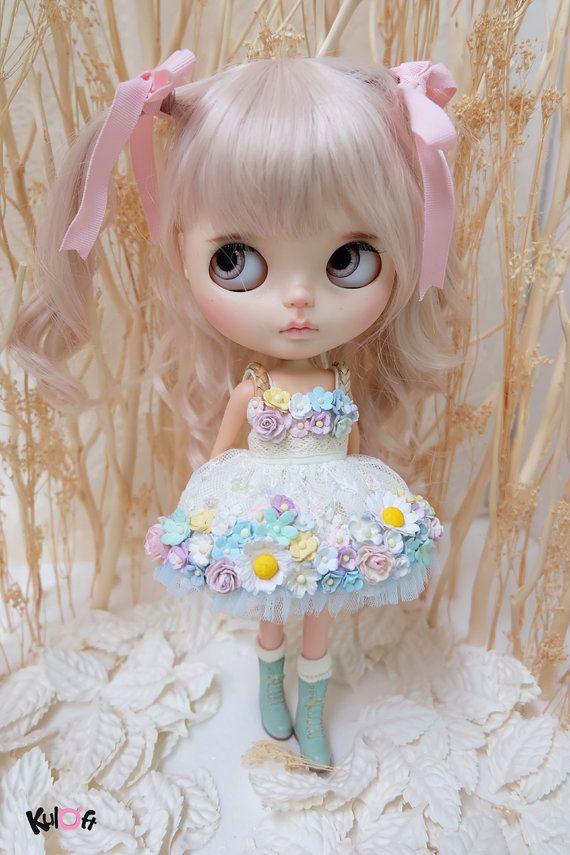 Blythe Sugar Rush flores vestido por kuloft en Etsy