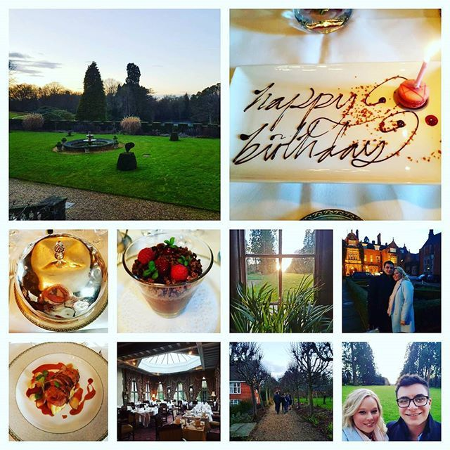 Amazing joint birthday lunch with both our families 🌲🎉🍾🍰 #tylneyhall #hampshirelife #28