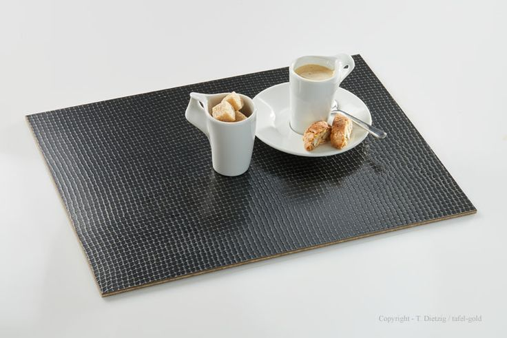 Tischdeko: tafel-gold Tischset 'Zinn Netz', mit Walküre Porzellan  ***MADE IN GERMANY**  modern & exclusive tablemats from the German designer tafel-gold