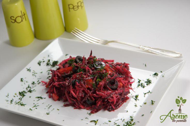 Salata de gulie si sfecla rosie - Arome de poveste
