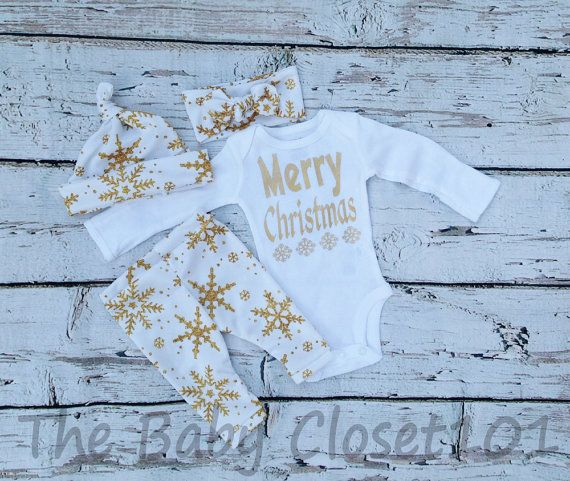 Baby Girl Christmas Outfit coming home outfit by thebabycloset101