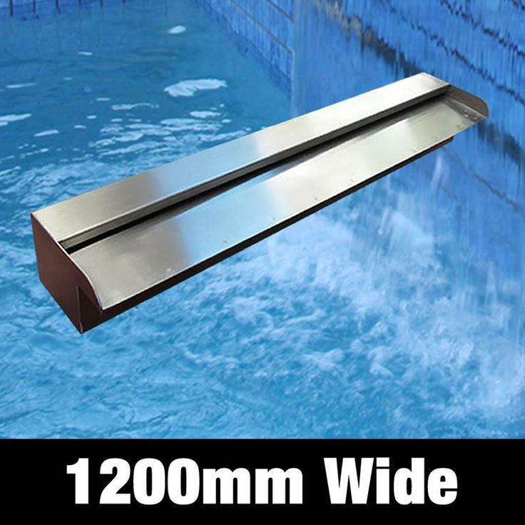 Creat your own Water Feature   Water Feature Stainless Steel Spillway   Water Blade   Water Wall