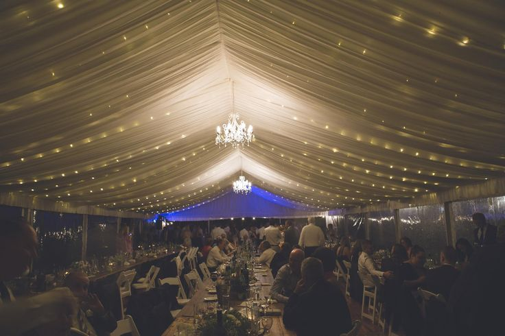 fairy lights, chandeliers, silk lining, marquee weddings, south coast weddings, south coast party hire
