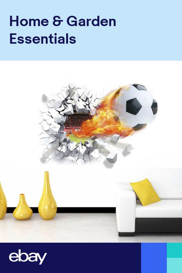 Best 3D 4D Football Broken Wall Decoration Photo Wallpaper Home 400 x 300