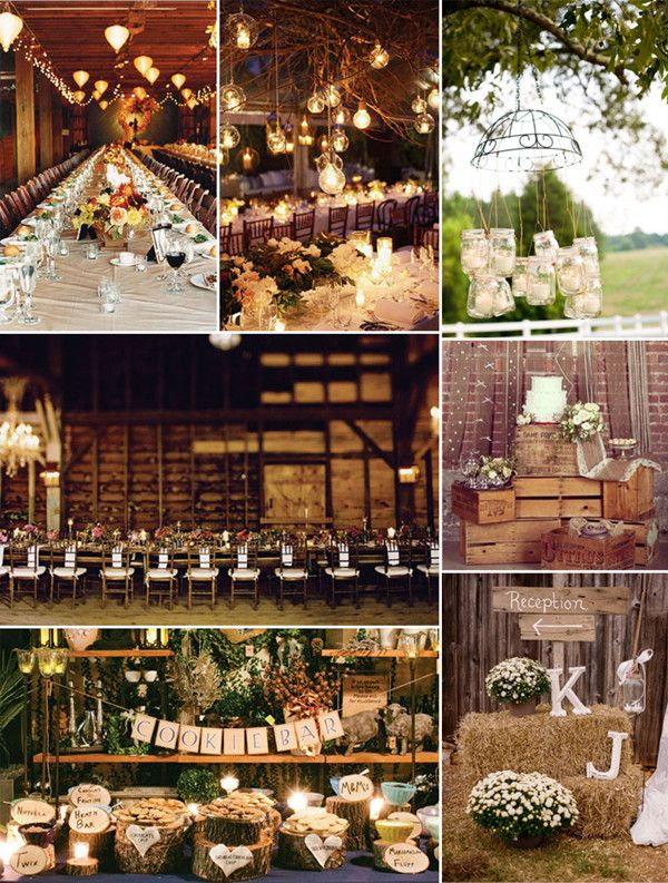 fall rustic wedding decoration ideas | One of the many reasons why fall weddings are so wonderful is because ...