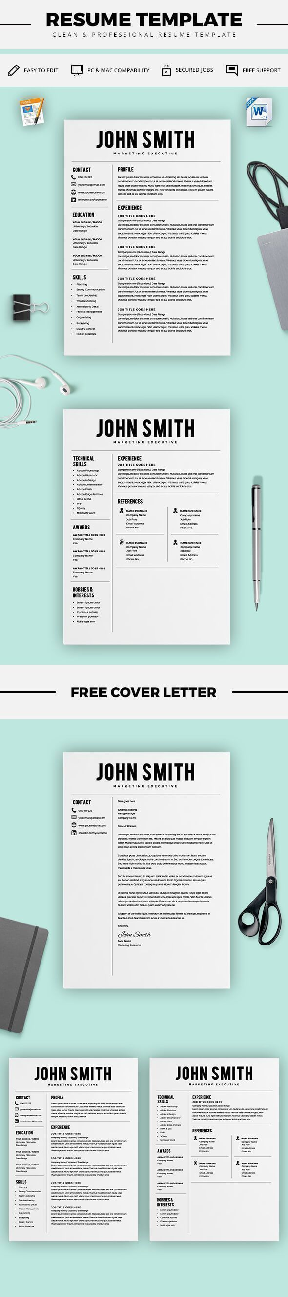 Instant Resume Templates 2032 Best Cv & Resume Design Images On Pinterest  Cv Resume