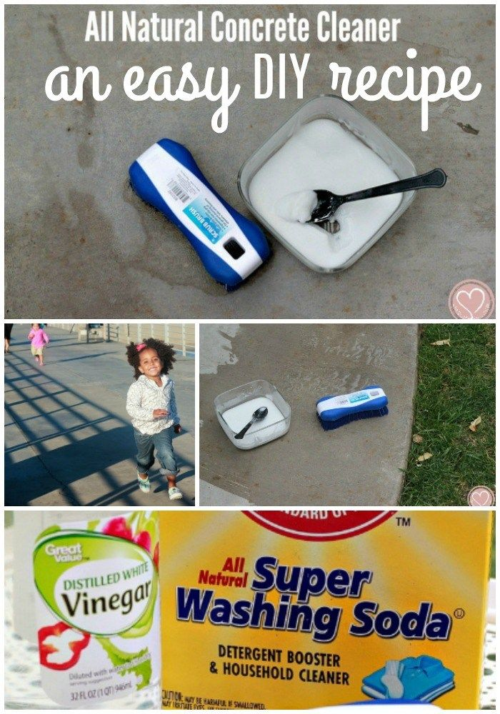 All Natural Concrete Cleaner To Remove Patio Stains Concrete