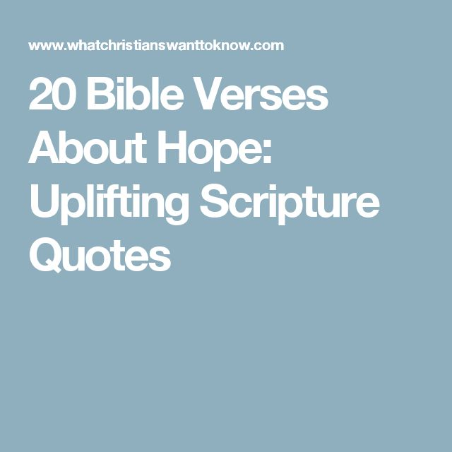 20 Bible Verses About Hope: Uplifting Scripture Quotes