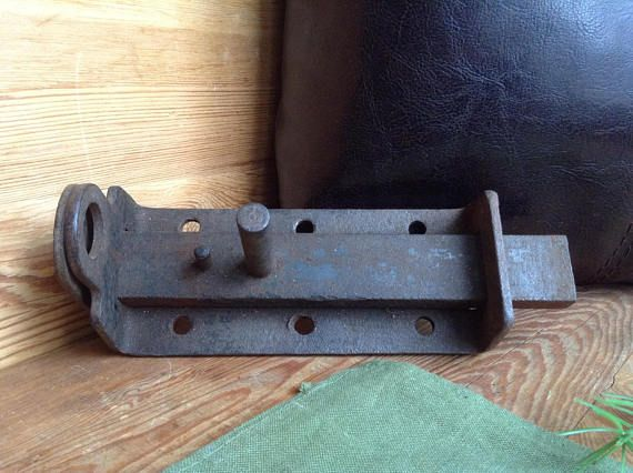 Vintage Door Lock Rusty Iron Barn Door Latch Massive Large Barn Doors Sliding Barn Door Latch Barn Door Locks