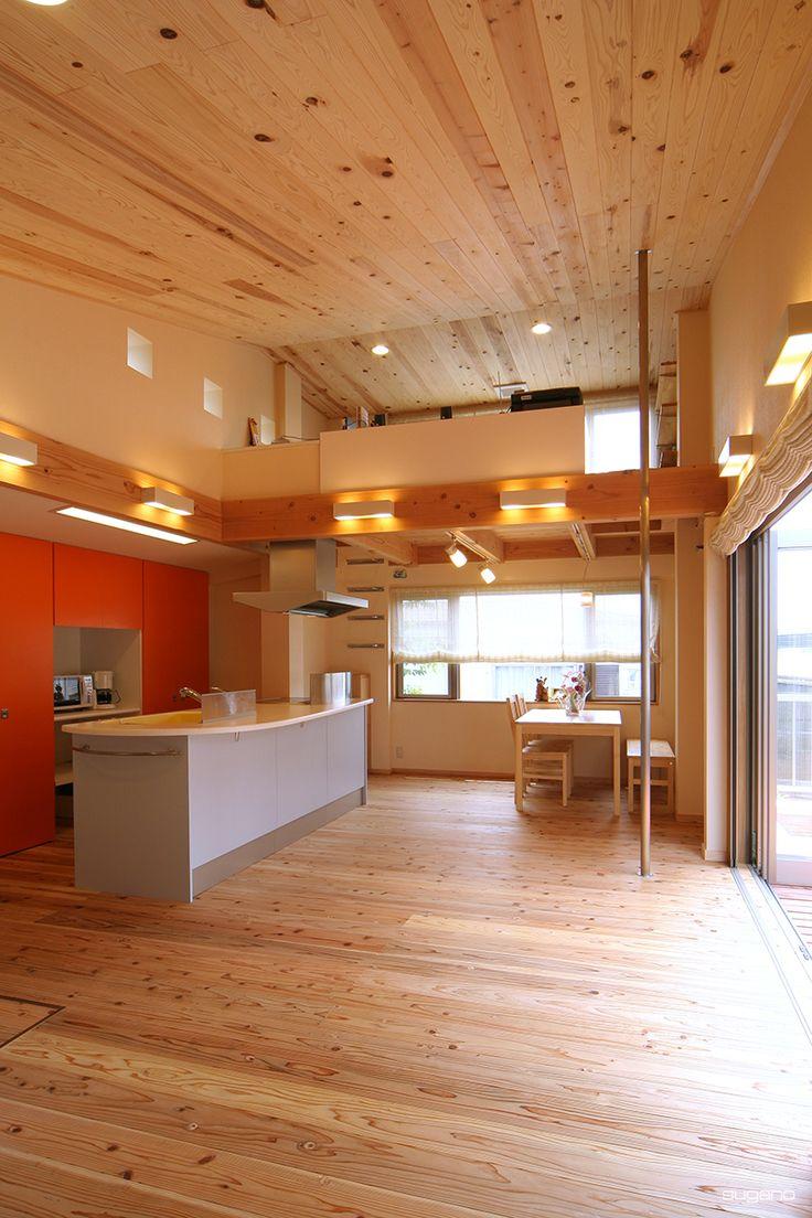 ハシゴで登ってパイプで降りる。御主人の隠れ部屋です。#住宅リフォーム #家づくり #ldk #リフォーム #隠れ部屋 #キッチン #吹抜 #設計事務所 #菅野企画設計