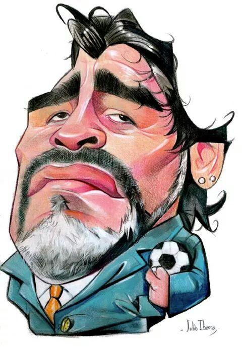 Maradona - by Julio Cesar Ibarra Warnes