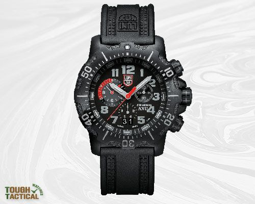 """This Luminox 4240 series new chrono is unique in that it is part of the ANU (Authorized for Navy Use) """"sea"""" line and features secure screw-down pushers and a solid rubber bracelet."""