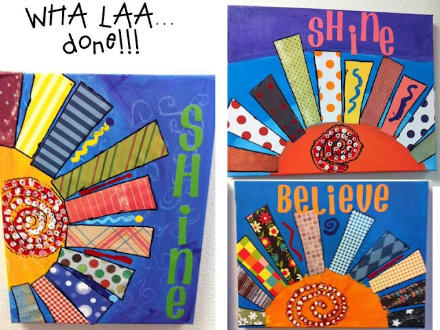 Oh' Boy 4th Grade: May 2012 What a great summer project! Canvas, paint, scrapbook paper, Sharpies and Modge Podge. This link will take you to her page where she outlines the entire project!