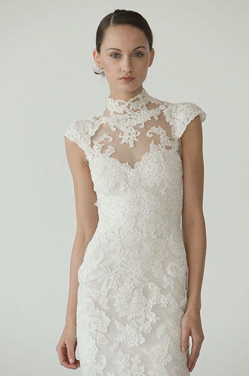 Vestido de novia corto.Tom Concordia, Marchesa, Fall 2012