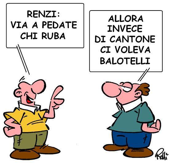 La vignetta di #Rolli sul Secolo XIX del 8.6.2014