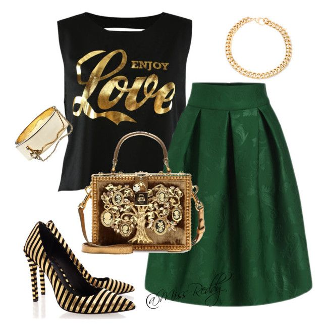 Untitled #25 by missreddy on Polyvore featuring polyvore, fashion, style, Rachel Zoe, Dolce&Gabbana and Alessandra Rich