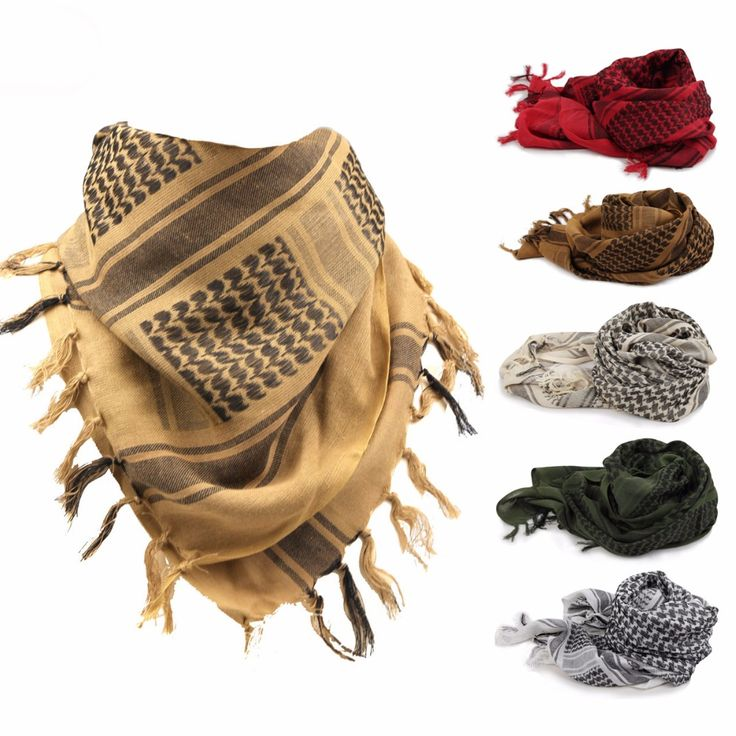 Outdoor Scarf Fashion Muffler Desert Tactical Hunting Shawl Military Scarf Thickening 190gsm 100% Cotton Wraps for Men or Women