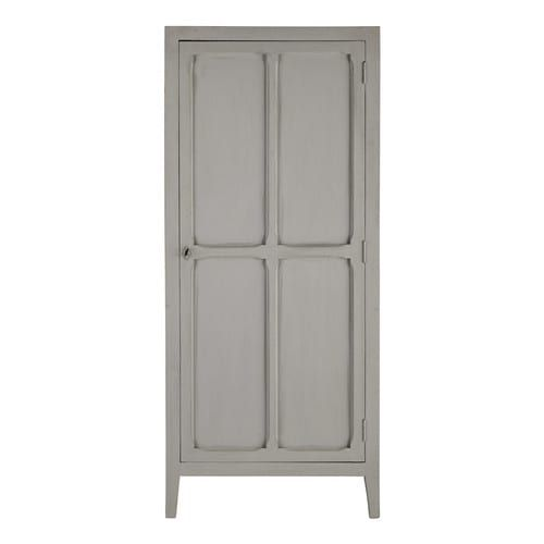 Featuring Four Fixed Shelves This Grey Mango Wood Cabinet Provides Ample Room For Storage