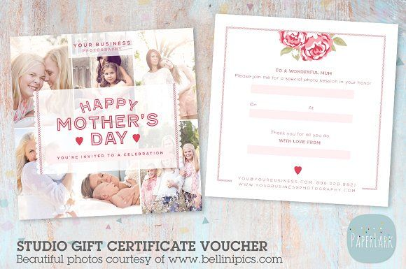 VG012 Gift Certificate Template by Paper Lark  on @creativemarket