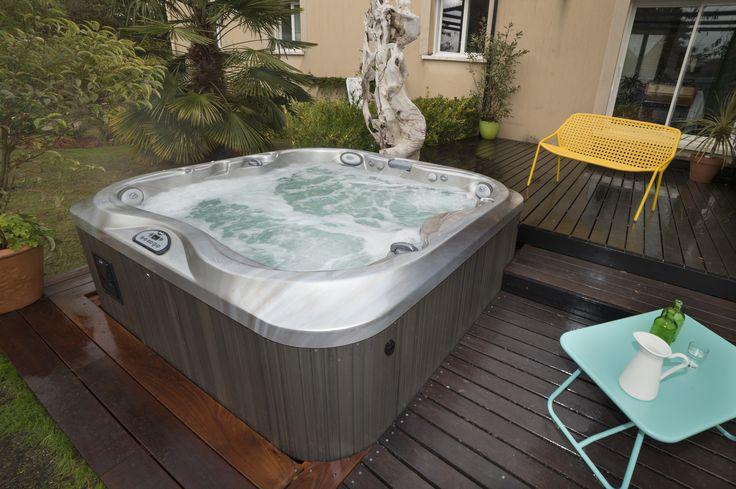 272 best images about spas jacuzzi en ext rieur on pinterest hot tub deck - Jacuzzi petite taille ...