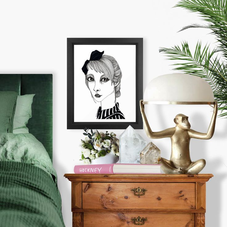 """One of my first illustrations, Lorenza, available at my Society6, with today 25% off when using code """"ARTLOVE"""" #fifikoussout #wallart #print #art #illustration #portrait #women #essentials #vibes #mood #inspo #home #homedecor #interior #bedroom #society6"""