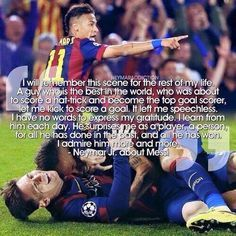 what friendship, they say that Suarez has a better combo with messi but Messi and Neymar are more than Suarez and Messi