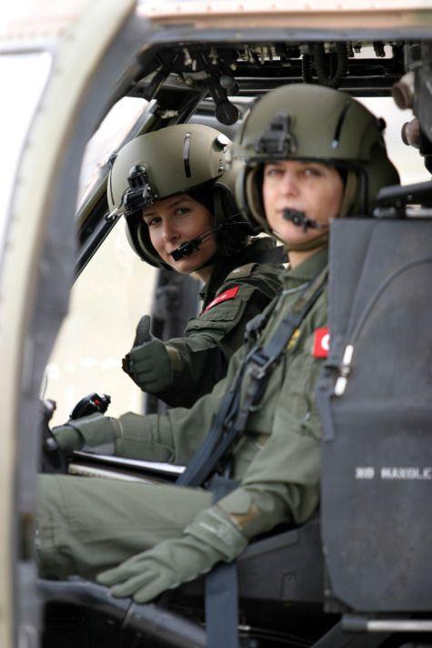 Turkish Female Black Hawk Helicopter Pilots - #Female #Pilot #Turkish