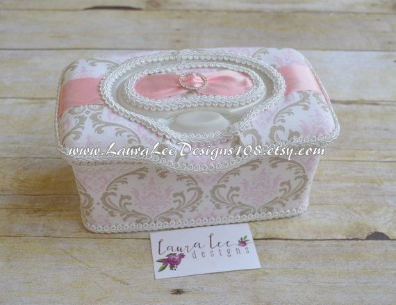 Elegante rosa y topo de Damasco con acento por LauraLeeDesigns108