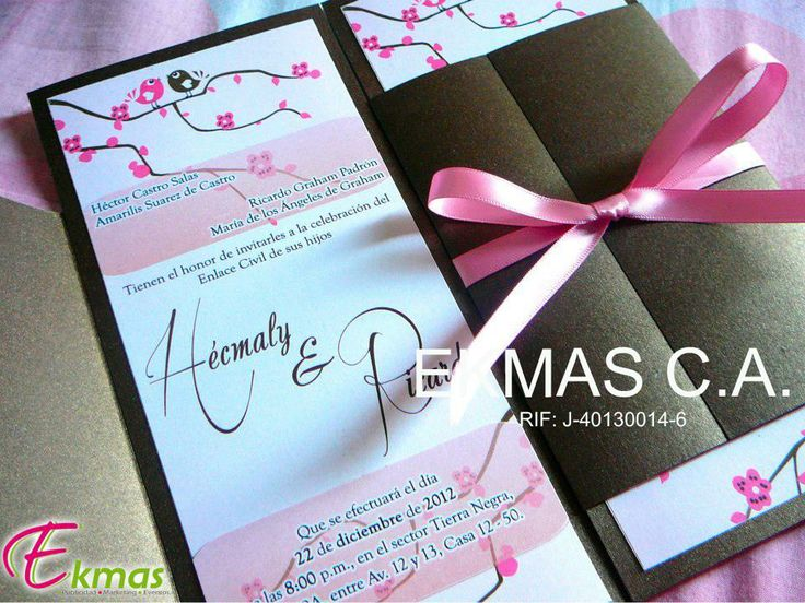 Invitación de Matrimonio Civil