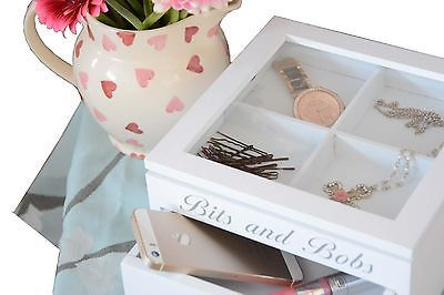 Shabby Chic Jewellery Box~Trinkets Box~Sewing Storage~Keepsake