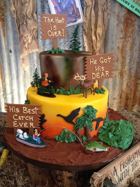 Hunting Cake Groom S Cakes Groomsman Cake Wedding