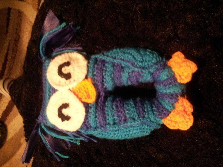 Owl crochet baby