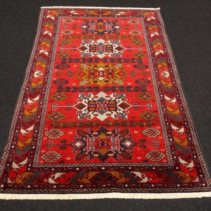 Orient Teppich Kazak 202 x 134 cm Aserbaidschan Azerbaijan Kaukasus Carpet Rug