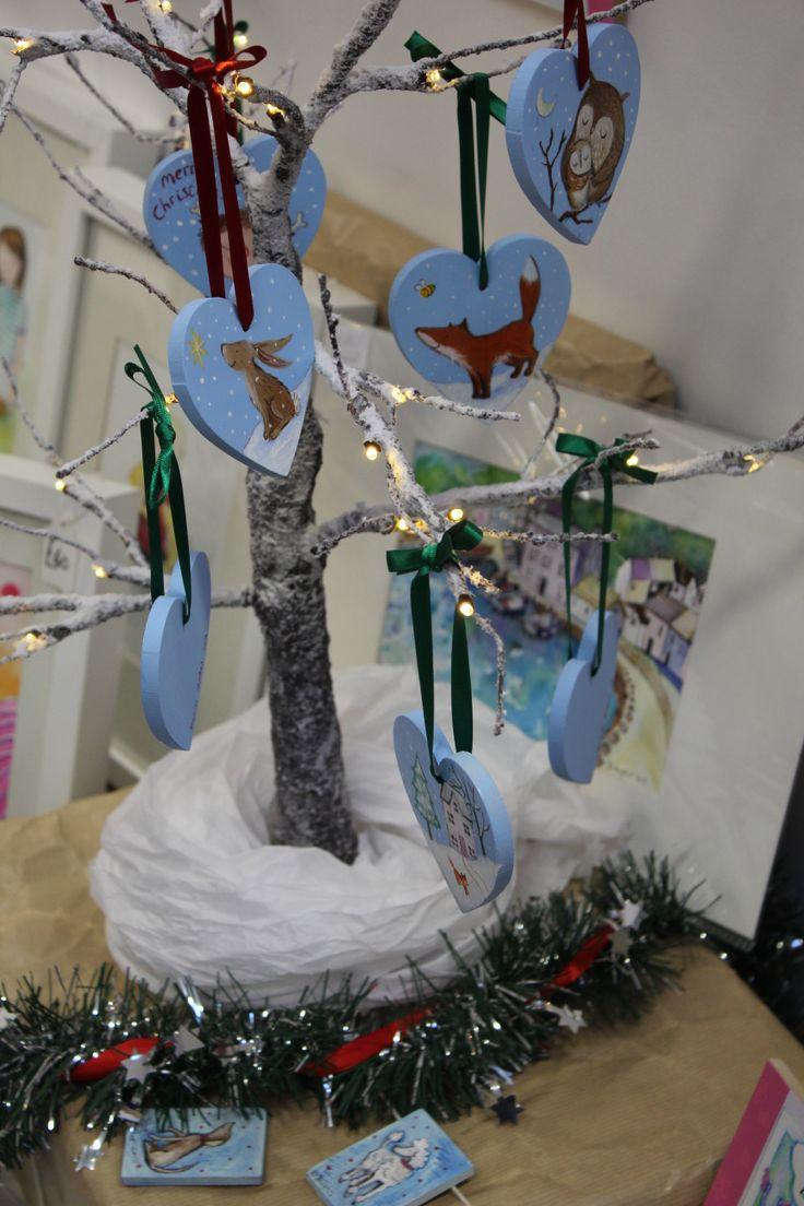 Denise Hughes' decorations are a real hit. Come grab one at our open studios. Find us behind Eastleigh post office.