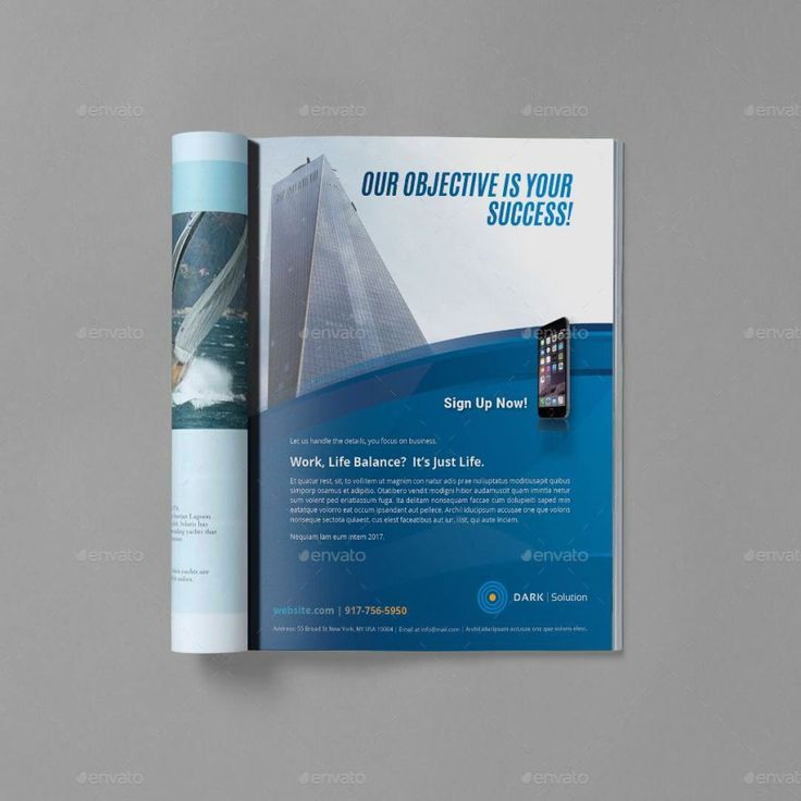 Magazine Advertisement Template Sanlife