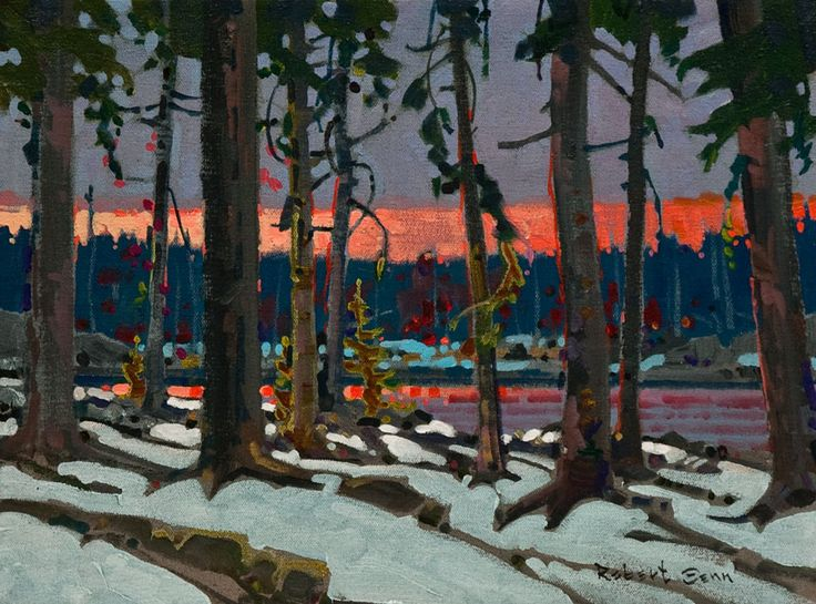 Evening, Scotty's Island, Lake of the Woods, by Robert Genn