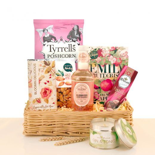 Hampers and Gifts to the UK - Send the Bloomin Delicious Gin Gift Basket