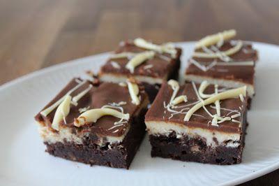 Marias Madside: Brownie med Baileys og cheesecaketop
