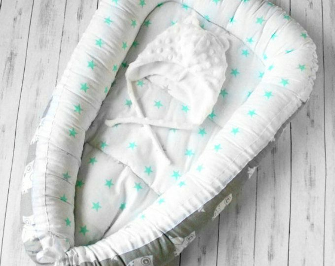 TODDLER / BABY NEST - irreplaceable thing for mother and her baby!  ✔BREATHABILITY and NON-TOXITY. We use only 100% organic cotton from the best Russian manufacturers and breathable insulation for kids clothing Holofiber. All our materials are certificated and hypoallergic. ✔ BABY COMFORT and SAFETY SLEEPING. Inside the comfortable soft babynest your baby will feelling comfortably and securely. Such place will allow your kid sleeping stronger and deeper, bacause it is already proved that...