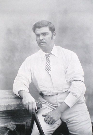 """33-Arthur Harwood (""""Affie"""") Jarvis was an Australian wicket-keeper. His Test cricket debut was against England at the MCG in January 1885 and his last Test was also against England at the same ground in March 1895. He was unlucky in that his time clashed with Jack Blackham but he still played 11 Tests for Australia and toured England."""